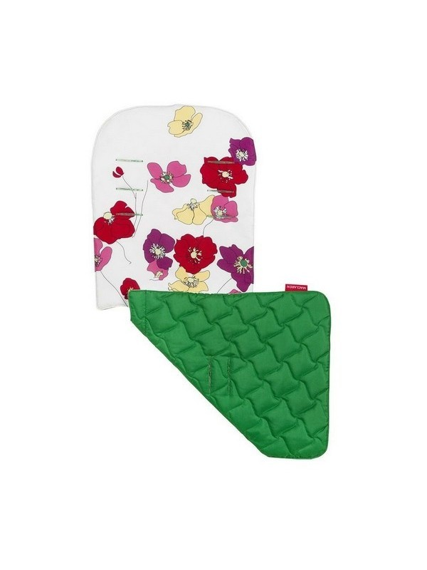 Maclaren Reversible Seat Liner Open Floral-Snow/Jelly Bean Green