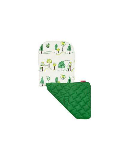 Maclaren Reversible Seat Liner Hug A Tree-Ivory/Jelly Bean Green
