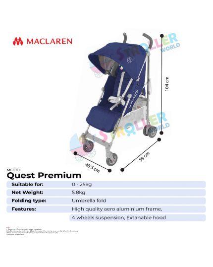 Maclaren Quest  - Black / Silver - PREMIUM