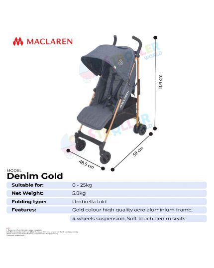 Maclaren Quest Denim Gold
