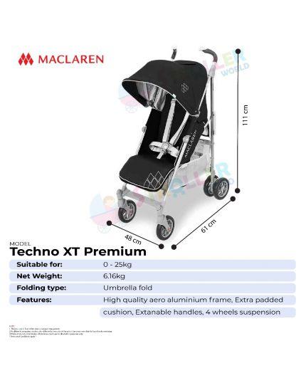Maclaren Techno XT - Charcoal / Silver PREMIUM