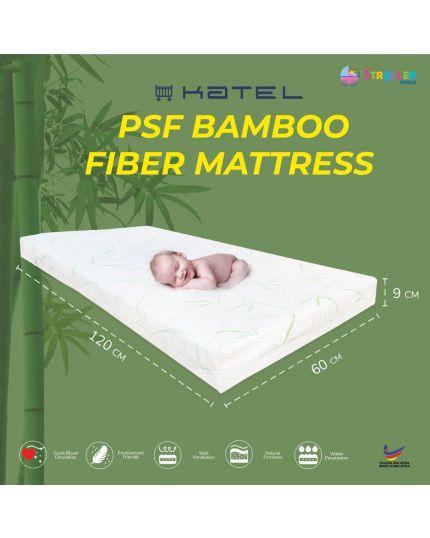 KATEL PSF Bamboo Fibre Babycot Mattress size 60cm x 120 cm