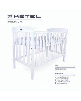 KATEL Baby Cot - Premium White